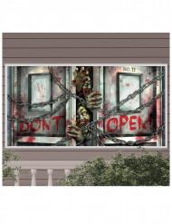Bannière en plastique Zombies