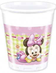 8 Gobelets en plastique Bébé Minnie ™  20 cl