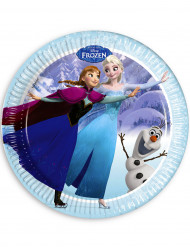 8 Assiettes bleues La Reine des neiges™ 23 cm