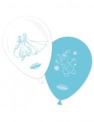 8 Ballons blancs et bleus La Reine des Neiges™