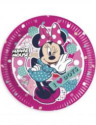 8 Assiettes en carton Minnie ™ 23 cm