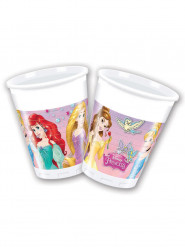 8 Gobelets en plastique Princesses Disney ™ 200 ml