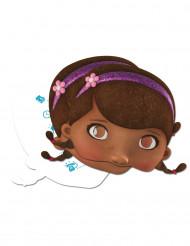 4 Cartes d'invitation + 4 Masques en carton Docteur La Peluche™