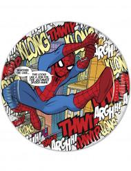 8 Assiettes en carton Bande Dessinée Spiderman™ 23 cm