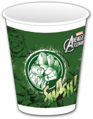 8 Gobelets plastique vert Avengers™