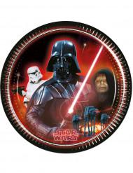 8 Assiettes en carton Dark Vador Star Wars™ 23 cm