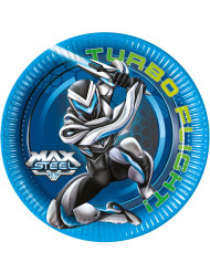 8 Assiettes en carton Max Steel ™ 23 cm