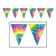 Guirlande fanions multicolore Peace 3.7 mètres
