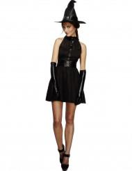 Déguisement sorcière noire sexy femme Halloween