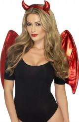 Kit diablesse rouge femme Halloween