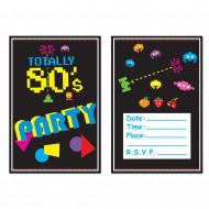 8 Invitations Années 80's