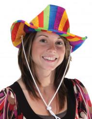Chapeau multicolore Cowboy adulte