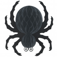 Décoration araignée à suspendre noire Halloween