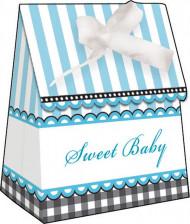 12 Boîtes cadeaux Pieds bleus 9 X 4 cm