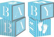 Centre de table cubes Pieds bleus
