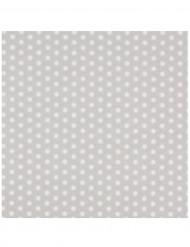 20 Serviettes en papier Fashion Argent 33 x 33 cm