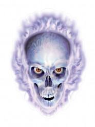 Autocollant crâne enflammé Halloween