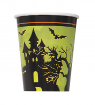 8 Gobelets en carton Nuit d'Halloween 255 ml
