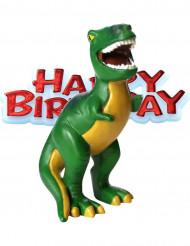 Figurine anniversaire Petits dinosaures 4 x 8 cm