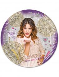 8 assiettes en carton Violetta ™ 23 cm