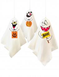 3 Décorations à suspendre Fantômes Halloween