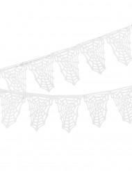 Guirlande fanions Toiles d'araignées blanches Halloween