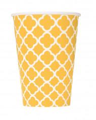 6 Gobelets en carton Grafik jaune 355 ml