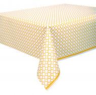Nappe en plastique Grafik jaune 137 x 274 cm