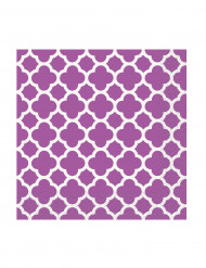 16 Petites Serviettes en papier Grafik Violet 25 x 25 cm
