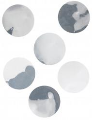 6 Confettis de table géants argent 9 cm