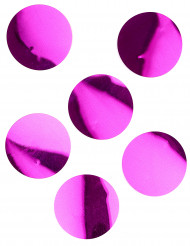 6 Confettis de table géants fuchsia 9 cm