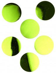 6 Confettis de table géants vert anis 9 cm