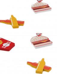 6 Confettis de table Vintage américain