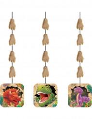 3 Décorations à suspendre Anniversaire Dinosaures