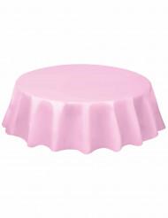 Nappe ronde rose clair en plastique 213 cm