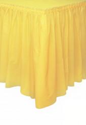 Jupe de table jaune doux en plastique 73 x 426 cm