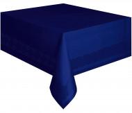 Nappe en papier bleu marine doublée en plastique 137 x 274 cm
