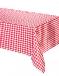 Nappe Vichy rouge en plastique 137 x 274 cm