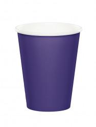 8 Gobelets violet en carton 256 ml