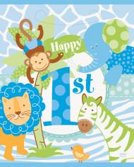 8 Sacs cadeaux Jungle 1 an Garçon
