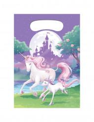8 Sacs cadeaux Licorne magique 22 x16 cm