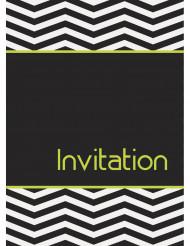 8 Cartes d'invitation Anniversaire Graphique