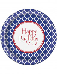 8 Assiettes en carton Happy Birthday Grafik 22 cm