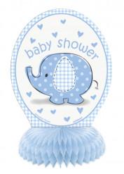 4 Mini Décorations Elephant Bleu