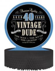 Centre de table Anniversaire Vintage 40 ans