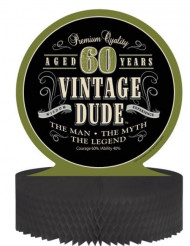 Centre de table anniversaire Vintage 60 ans