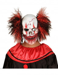 Masque latex clown sanglant adulte Halloween