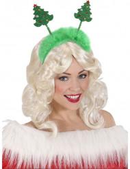 Serre-tête sapins de Noël vert avec fourrure Noël
