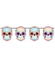 Guirlande squelettes colorés Dia de los muertos 1.6 mètres