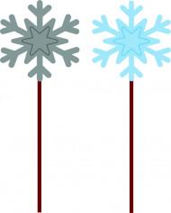 12 Pics flocons de neige Noël 15 cm